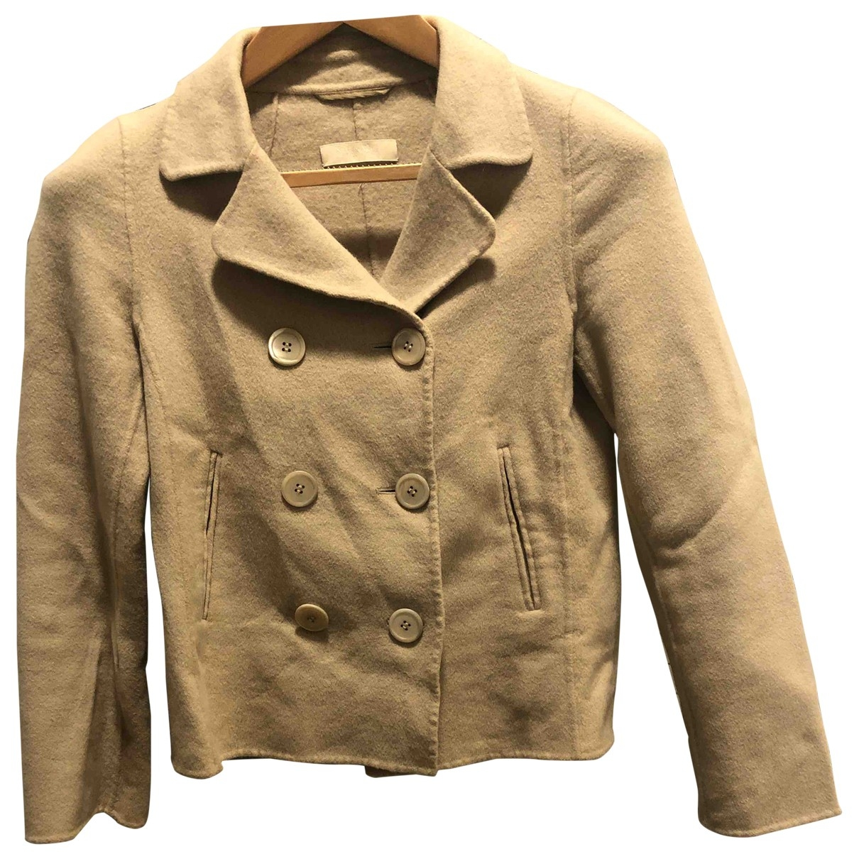 Max Mara 's \N Beige Wool coat for Women 34 FR