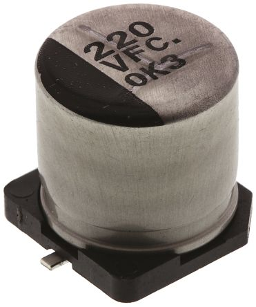 Panasonic 220μF Electrolytic Capacitor 35V dc, Surface Mount - EEEFC1V221AP (10)
