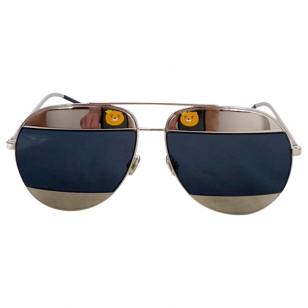 Dior Split Silver Metal Sunglasses for Women \N