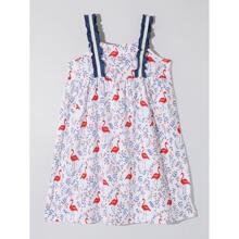 Toddler Girls Flamingo And Floral Print Cami Dress