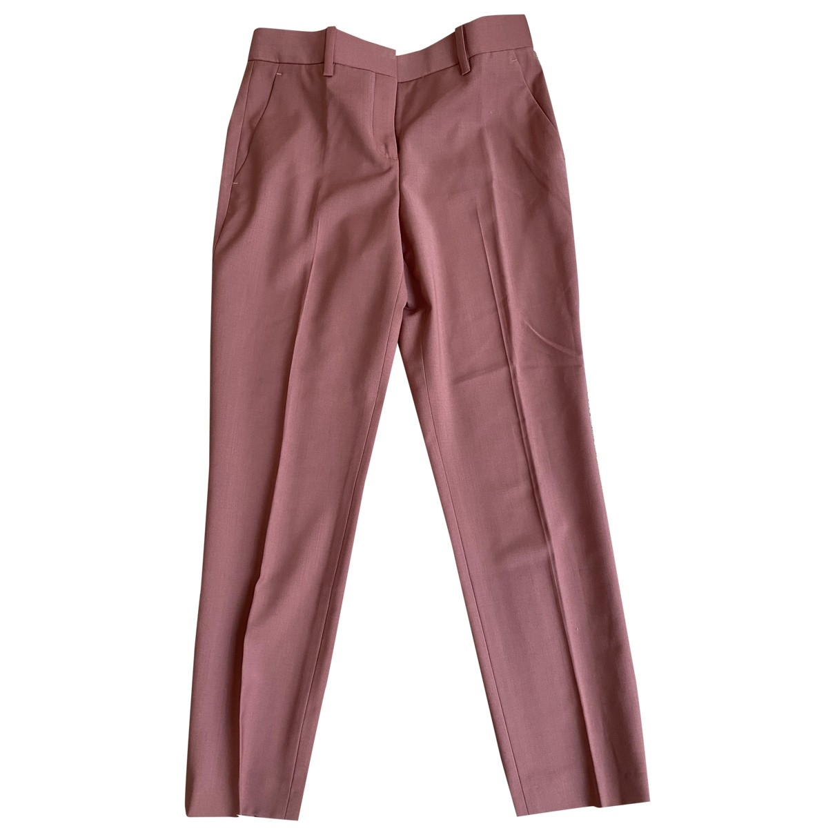 Theory \N Pink Wool Trousers for Women 34 FR