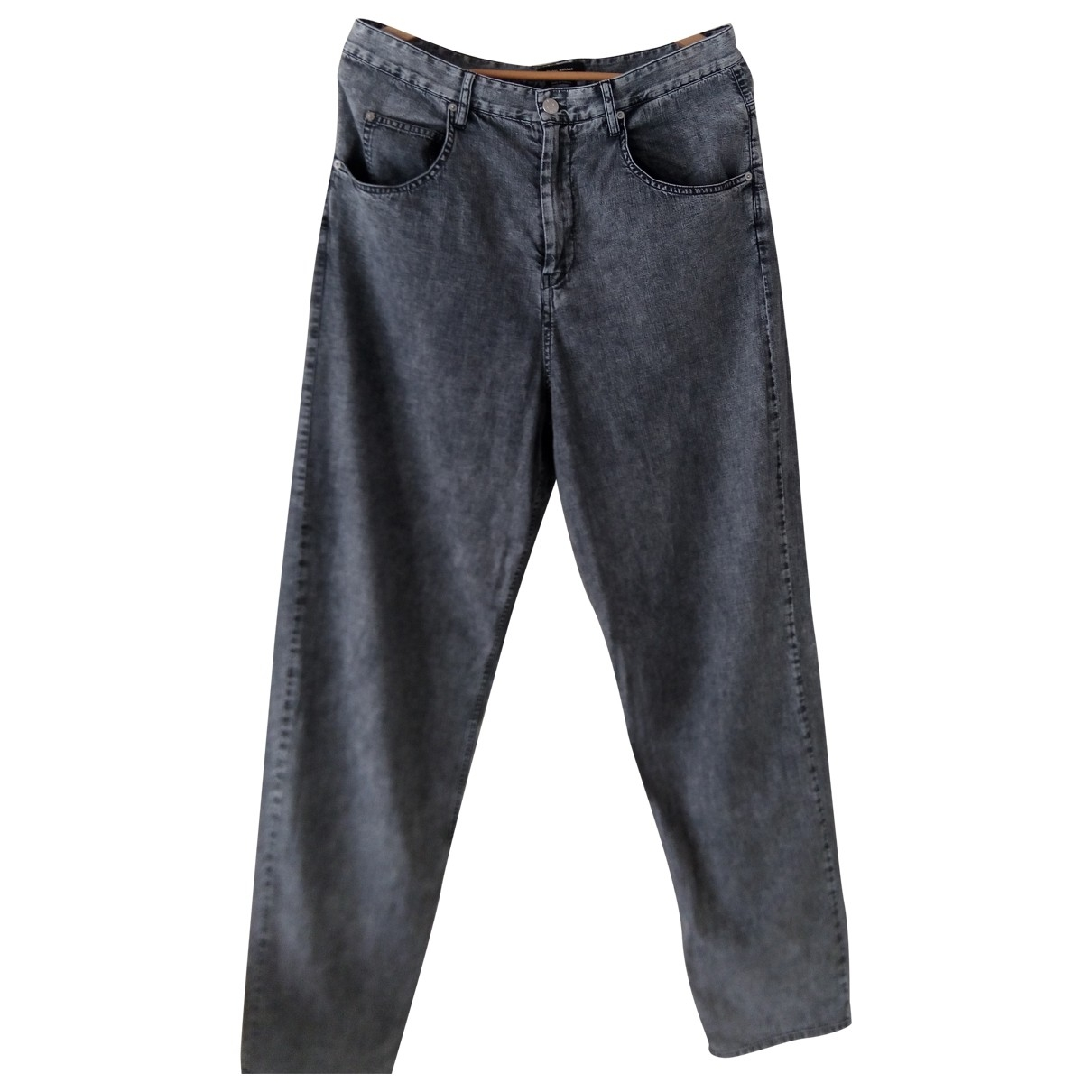 Isabel Marant \N Grey Cotton Trousers for Women 44 FR