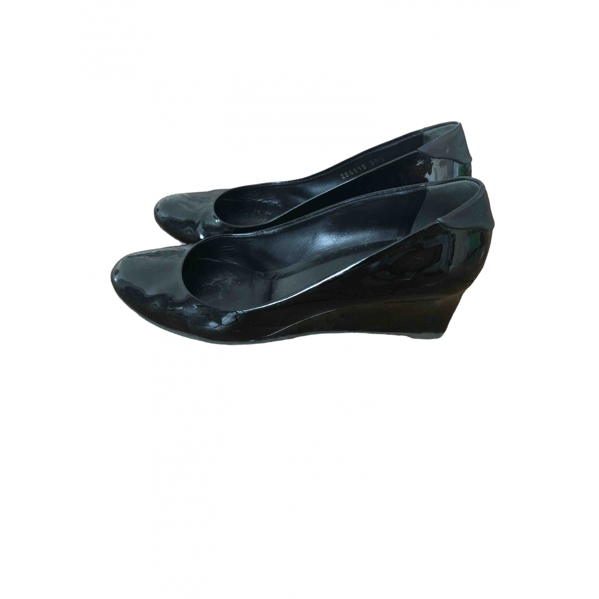 Gucci \N Black Patent leather Ballet flats for Women 39.5 EU