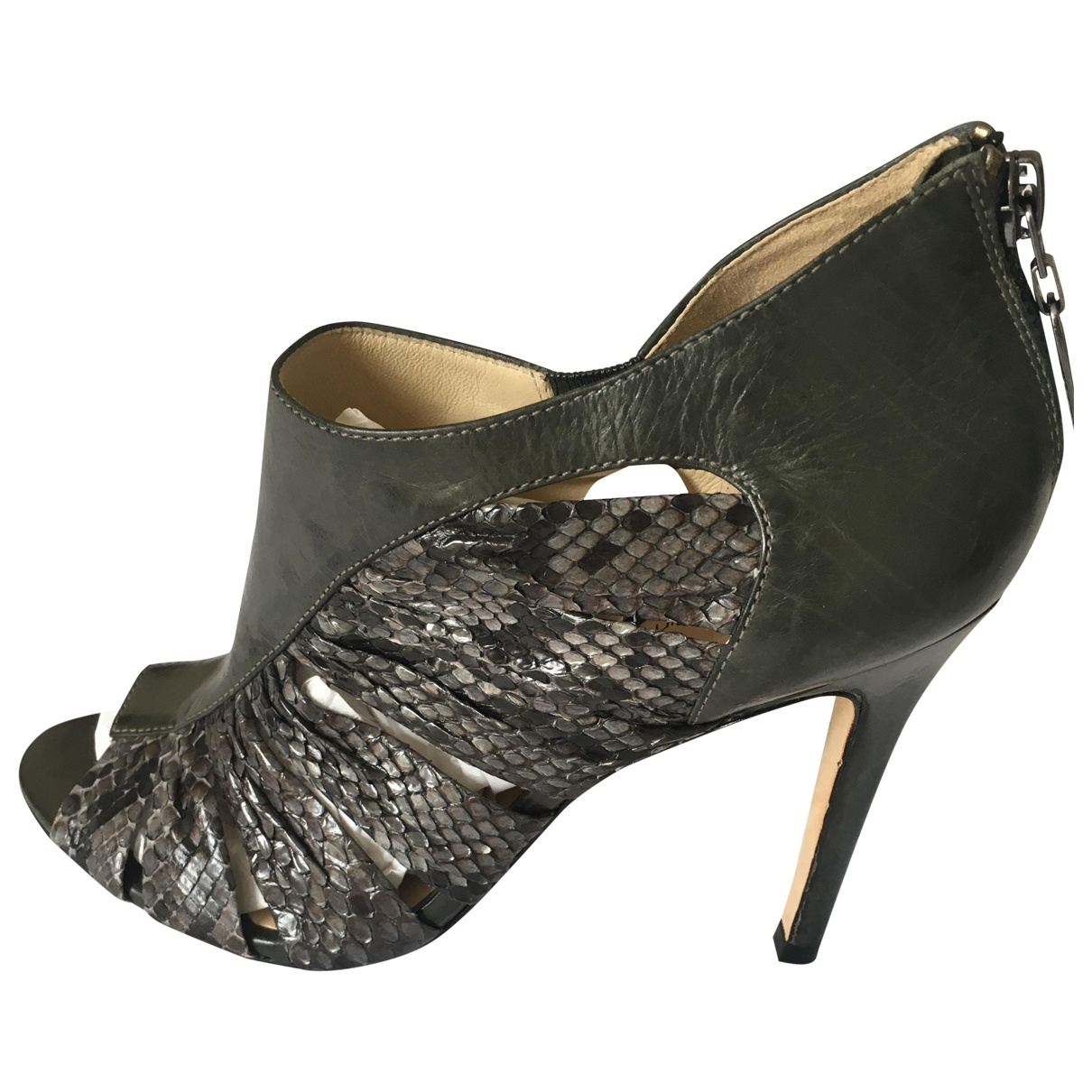 Alexandre Birman \N Grey Python Ankle boots for Women 39 EU
