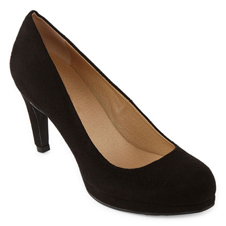 CL by Laundry Womens Nidia Round Toe Stiletto Heel Pumps, 6 1/2 Medium, Black
