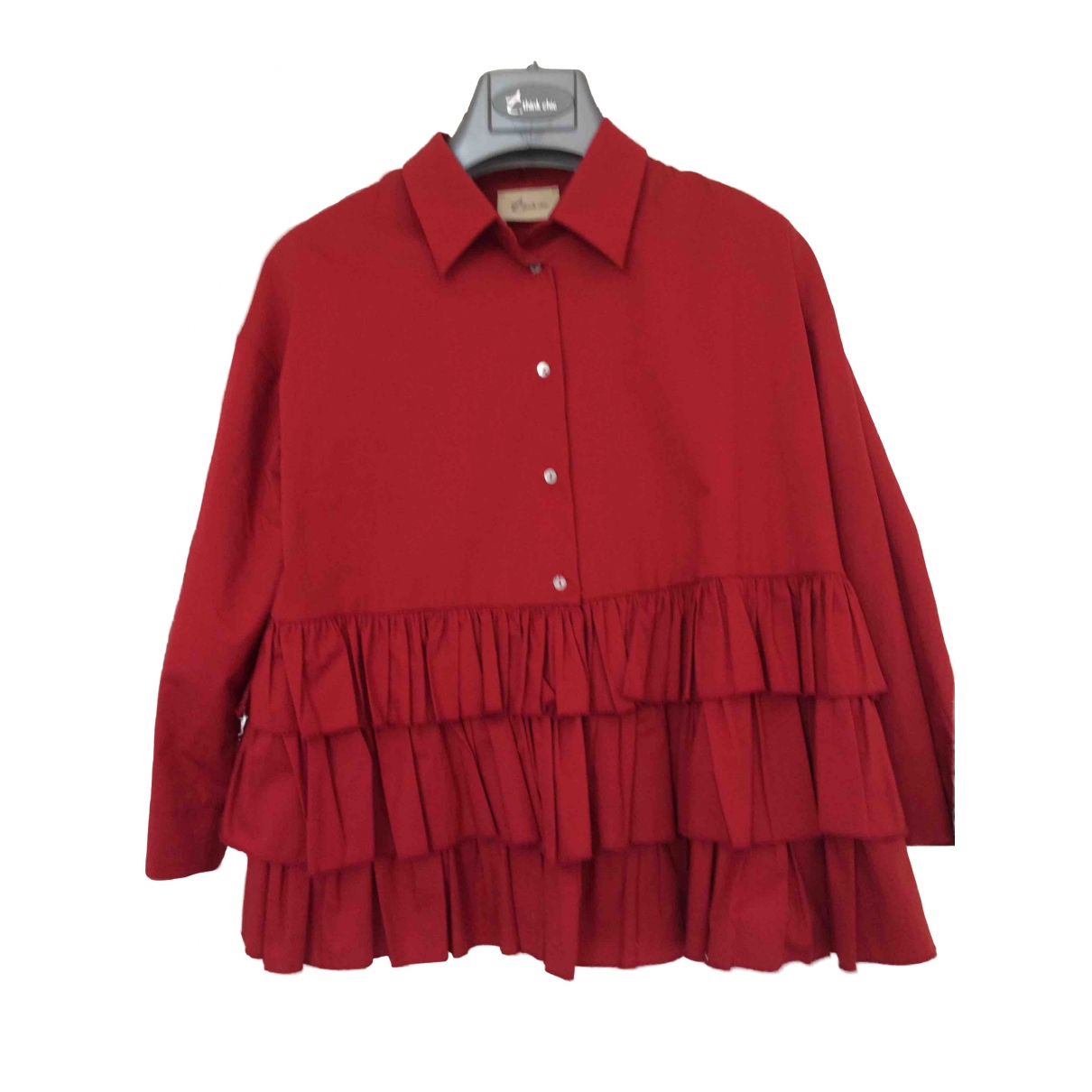 Non Signé / Unsigned \N Red Cotton  top for Women S International