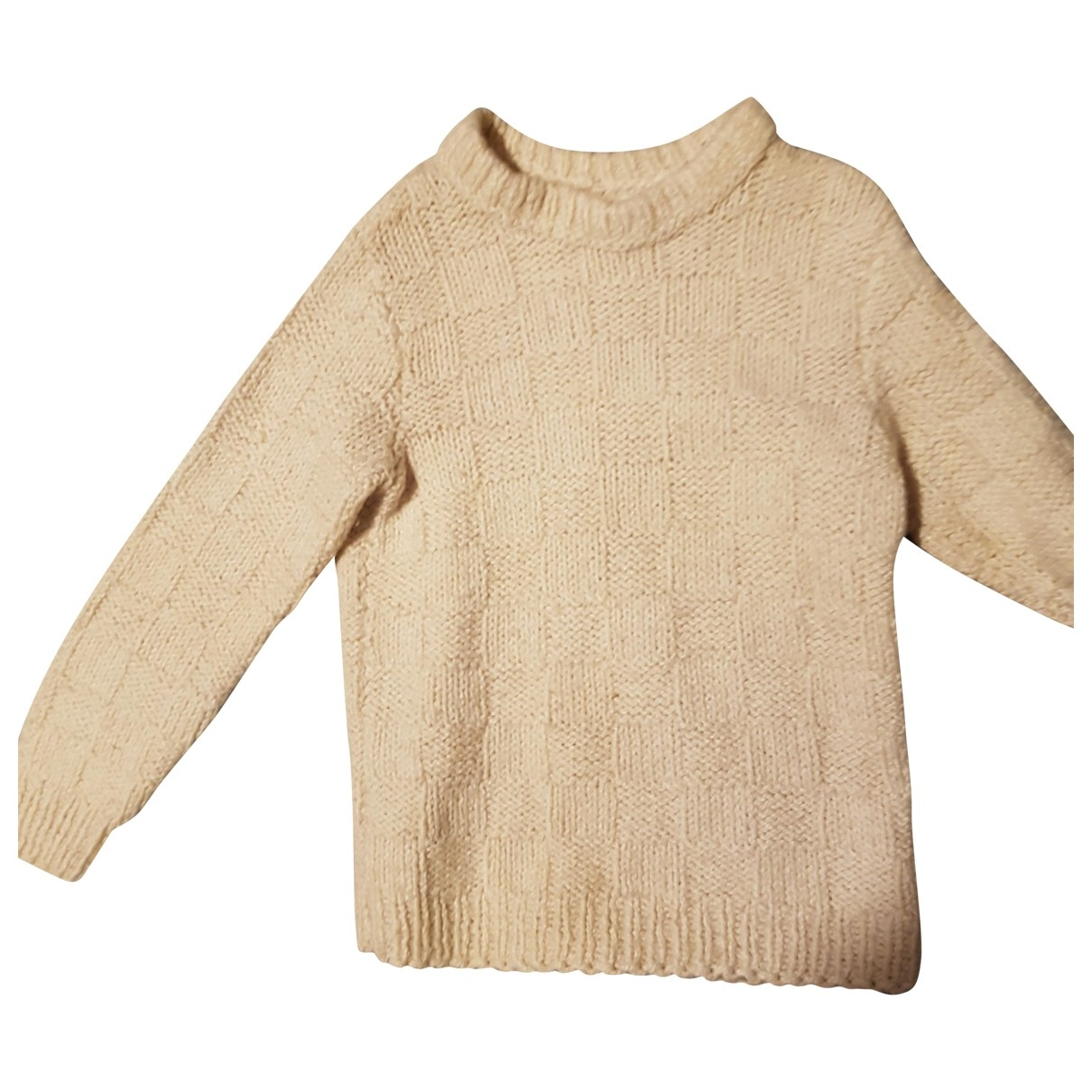 Non Signé / Unsigned \N White Wool Knitwear for Kids 8 years - until 50 inches UK