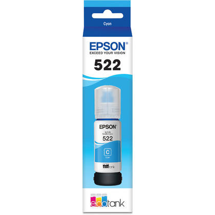 Epson T522 T522220-S Original EcoTank Cyan Ink Bottle