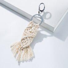 Braided Tassel Charm Keychain