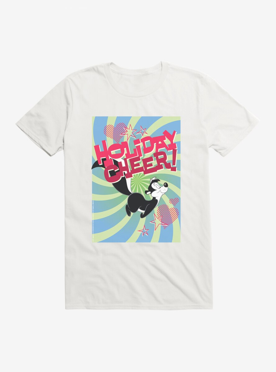 Looney Tunes Pepe Le Pew Holiday Cheer T-Shirt