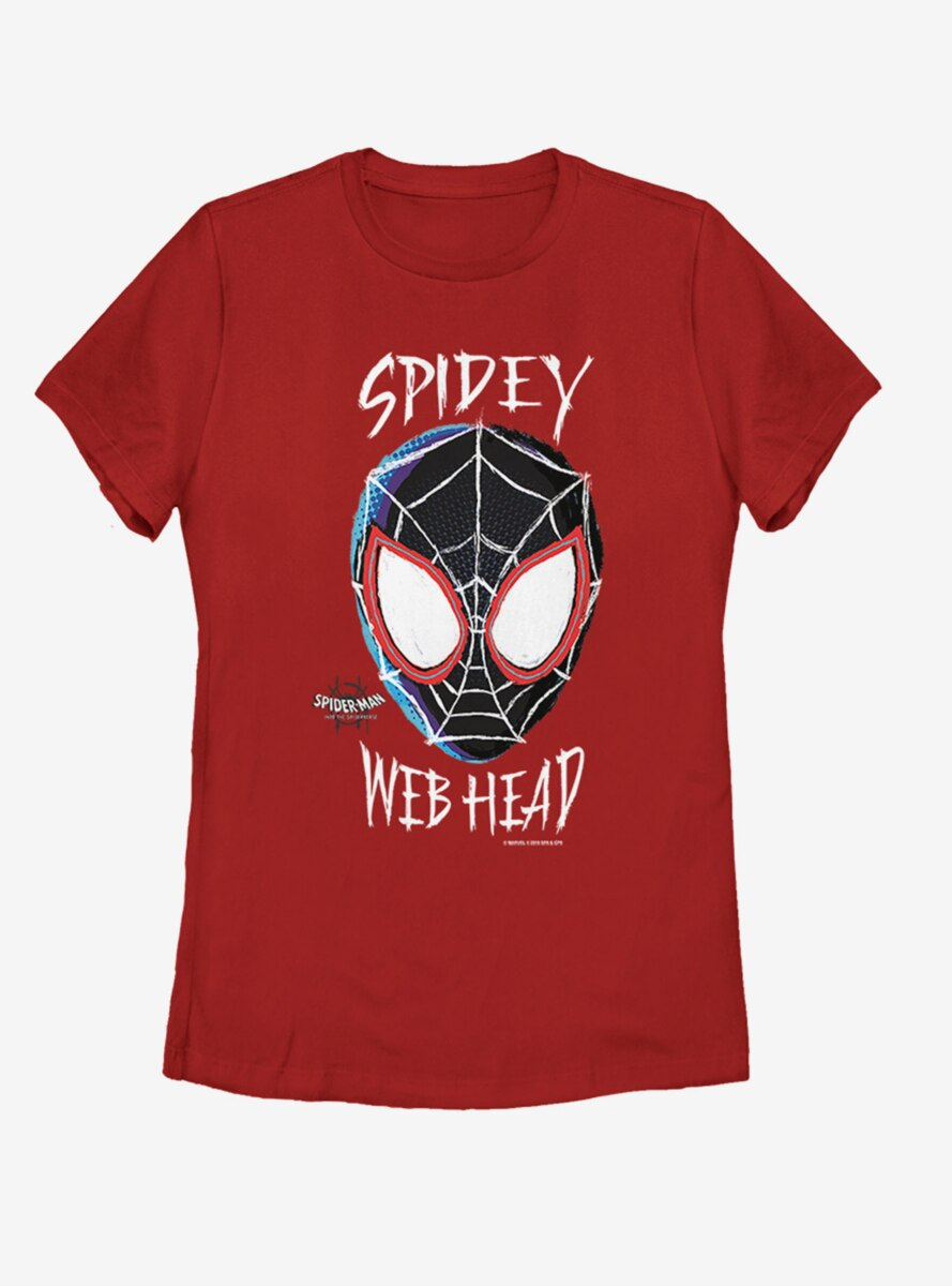 Marvel Spider-Man: Into the Spider-Verse Web Head Womens T-Shirt