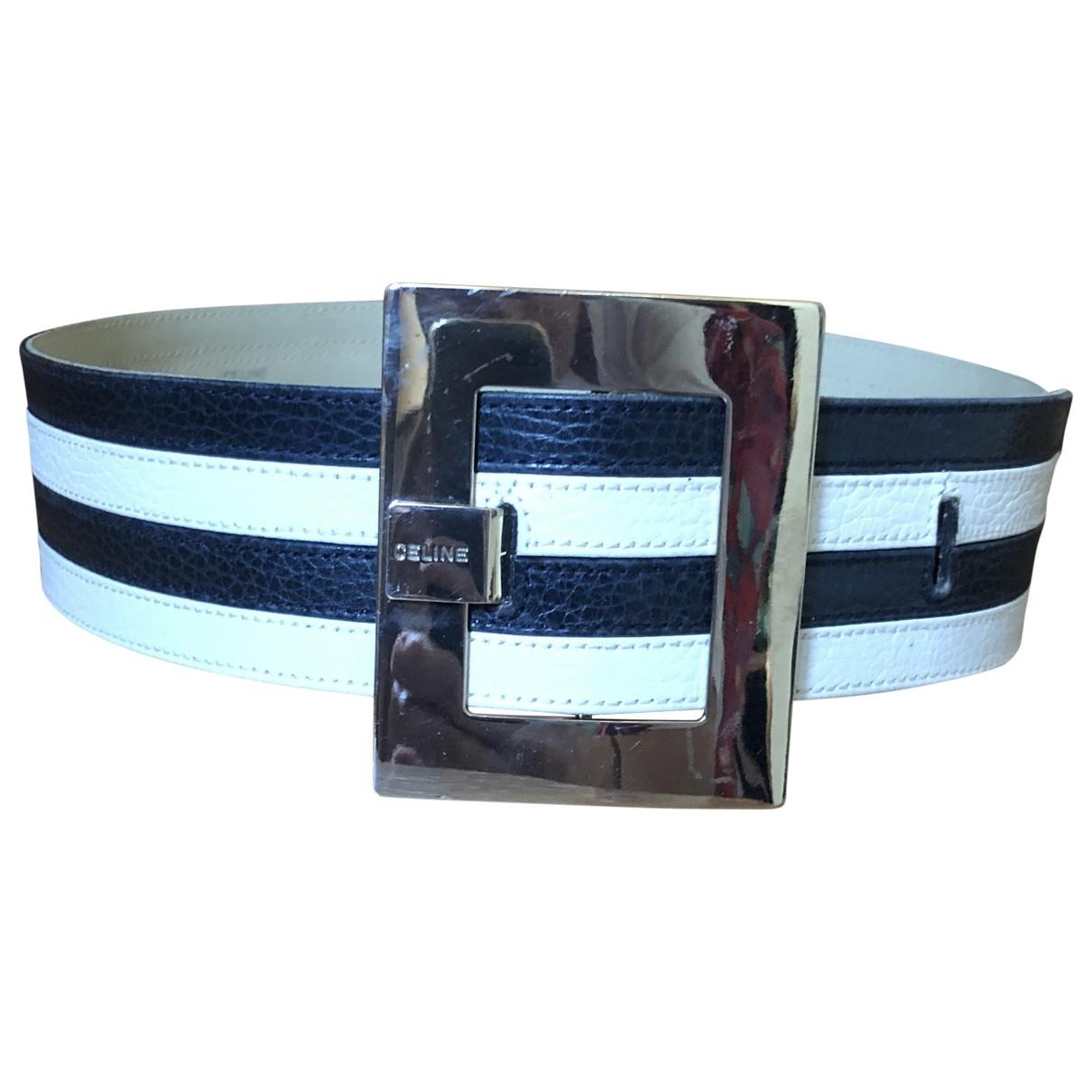 Celine \N Navy Leather belt for Women 70 cm
