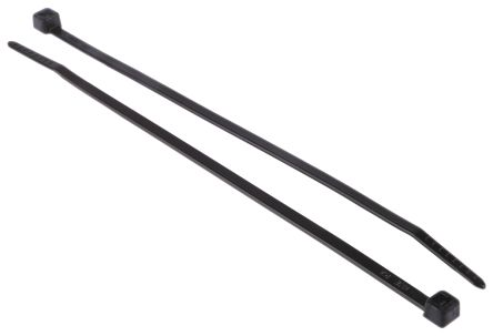 HellermannTyton , T30R Series Black Nylon Cable Tie, 150mm x 3.5 mm