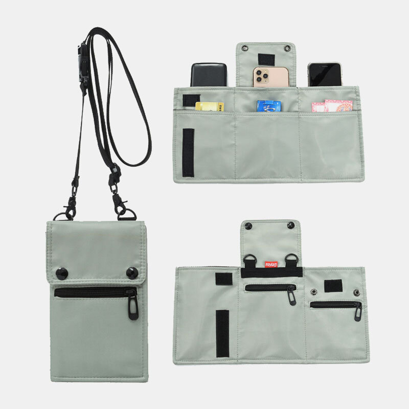 Men Multi-carry Expandable Multifunction Waterproof Casual Phone Bag Crossbody Bag