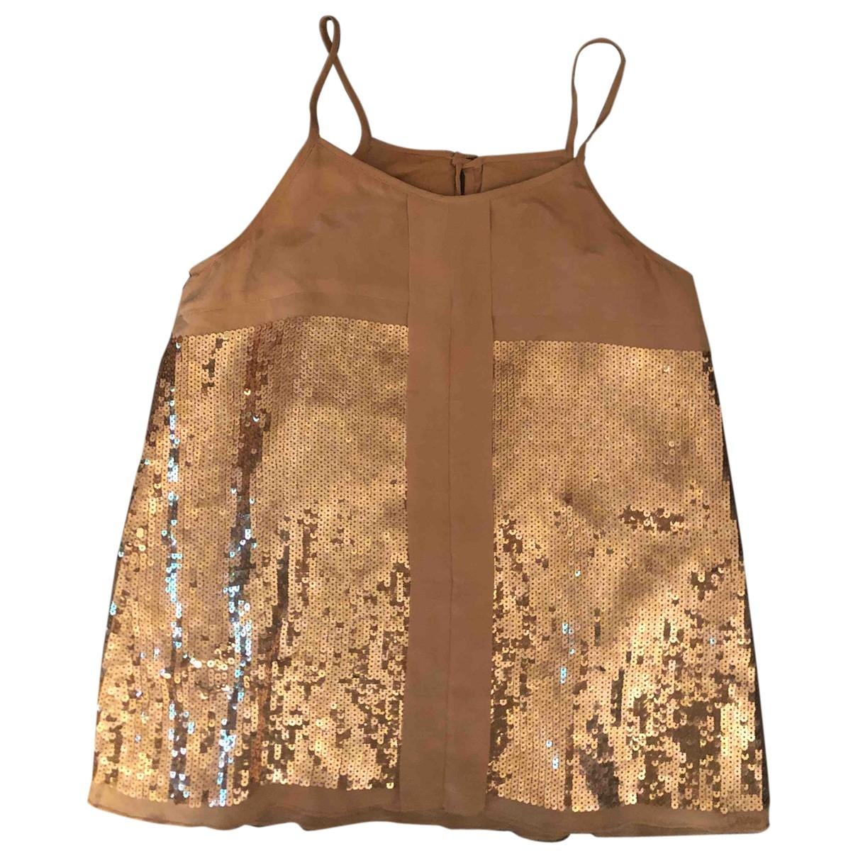 Chloé \N Beige Silk  top for Kids 12 years - XS FR