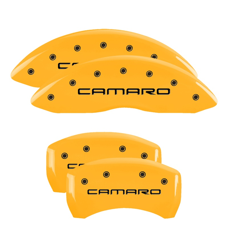 MGP Caliper Covers 14027SCS4YL Set of 4: Yellow finish, Black Camaro / SS (Gen 4) Chevrolet Camaro 1998-2002