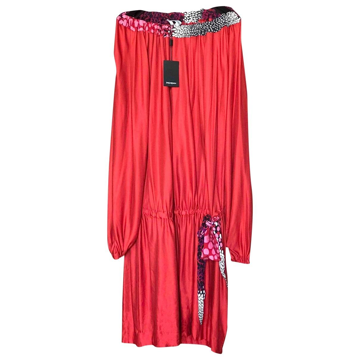 Yves Saint Laurent \N Red Cotton dress for Women 36 FR