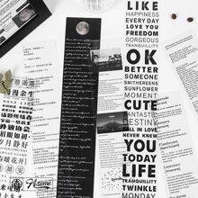 1pc Slogan Graphic Tape Sticker