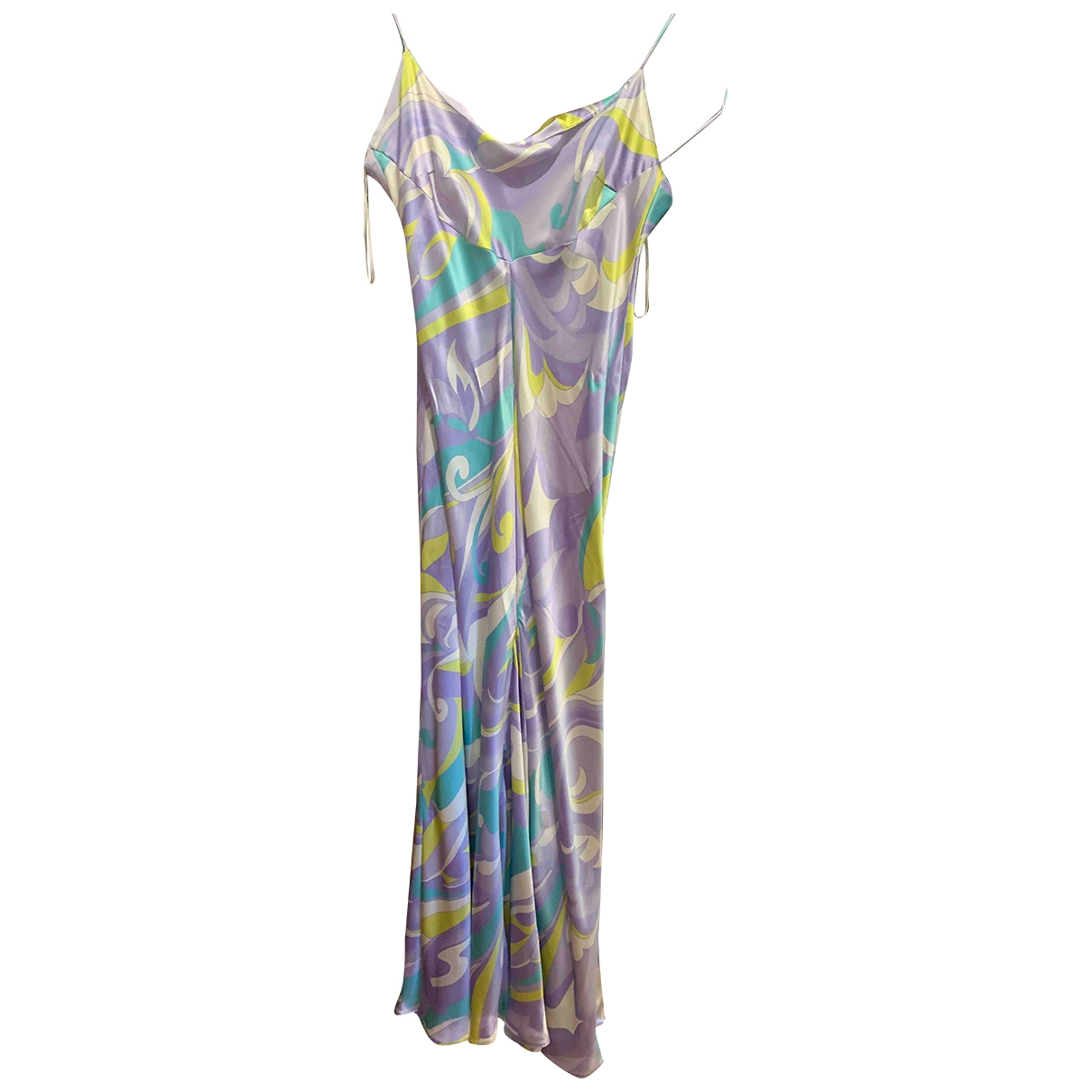 Non Signé / Unsigned \N Multicolour Silk dress for Women 48 IT