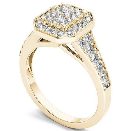 Womens 5/8 CT. T.W. Genuine White Diamond 10K Gold Engagement Ring, 8 1/2 , Multiple Colors