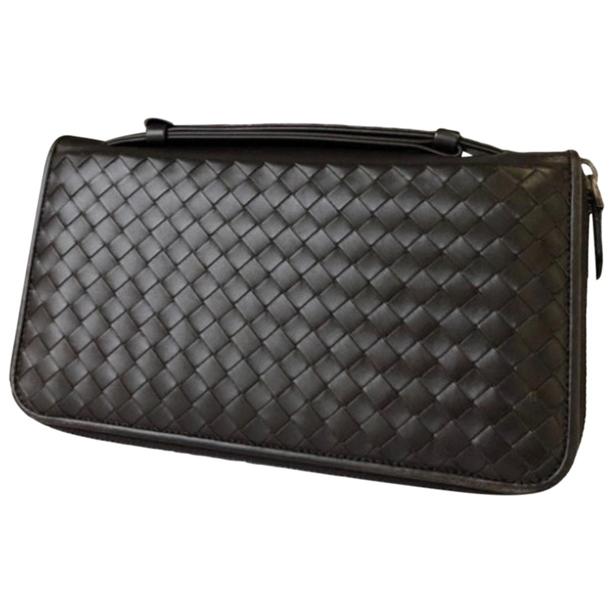 Bottega Veneta \N Leather Small bag, wallet & cases for Men \N