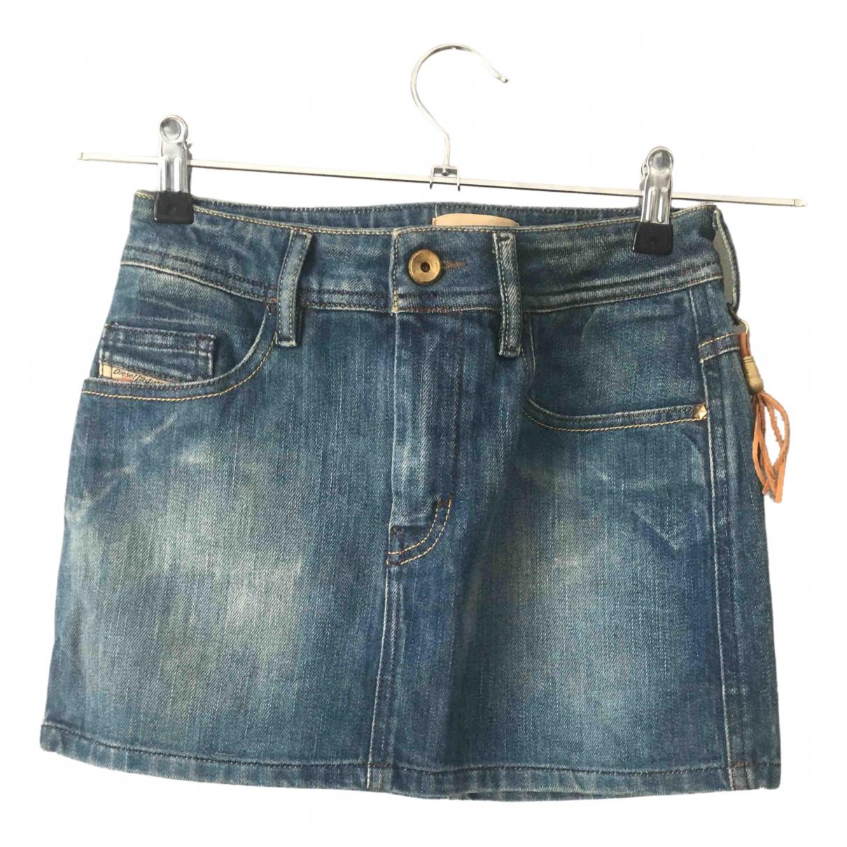 Diesel \N Blue Denim - Jeans skirt for Women 40 IT