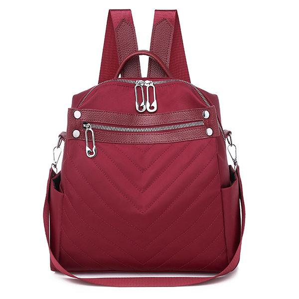 Women Oxford Multifunction Shoulder Bag School Bag Backpack