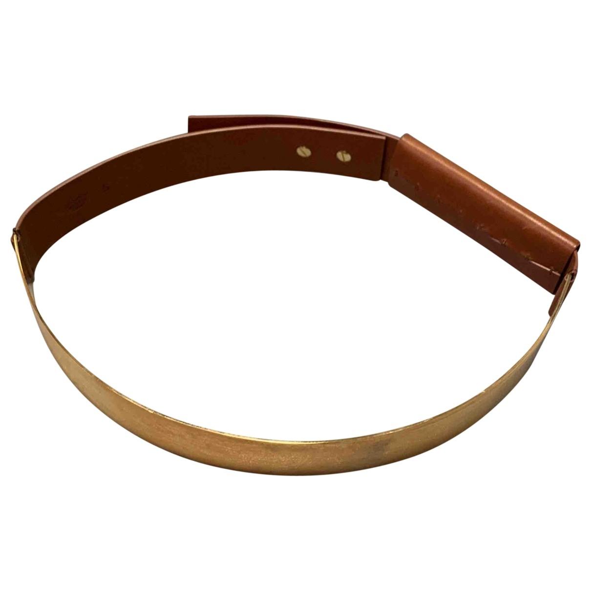 Maison Martin Margiela \N Gold Leather belt for Women S International