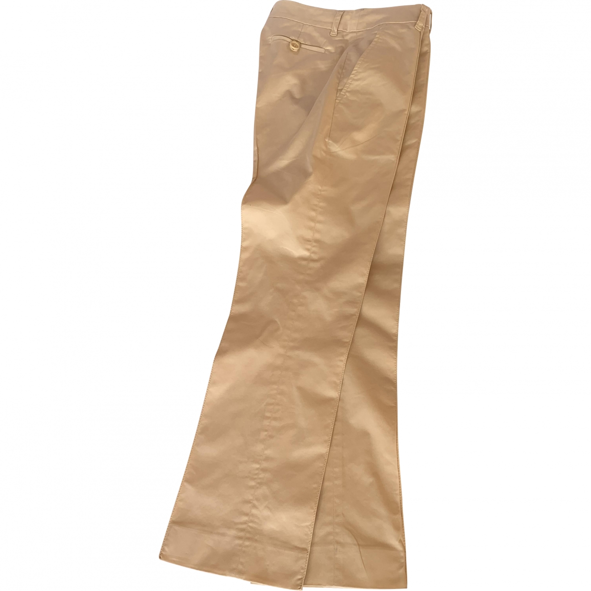 Moschino Cheap And Chic \N Beige Cotton Trousers for Women 36 FR