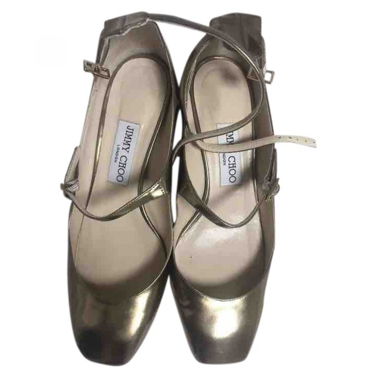 Jimmy Choo \N Gold Patent leather Heels for Women 38 EU
