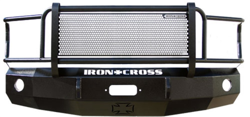 Iron Cross 24-615-13 Heavy Duty Grill Guard Front Bumper - Gloss Black Ram 1500 (Non Ram Rebel) 2013-2018