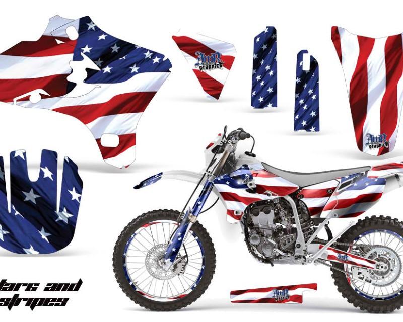 AMR Racing Graphics MX-NP-YAM-WR250F-WR450F-05-06-USA Kit Decal Wrap + # Plates For Yamaha WR250 WR450F 2005-2006 USA FLAG