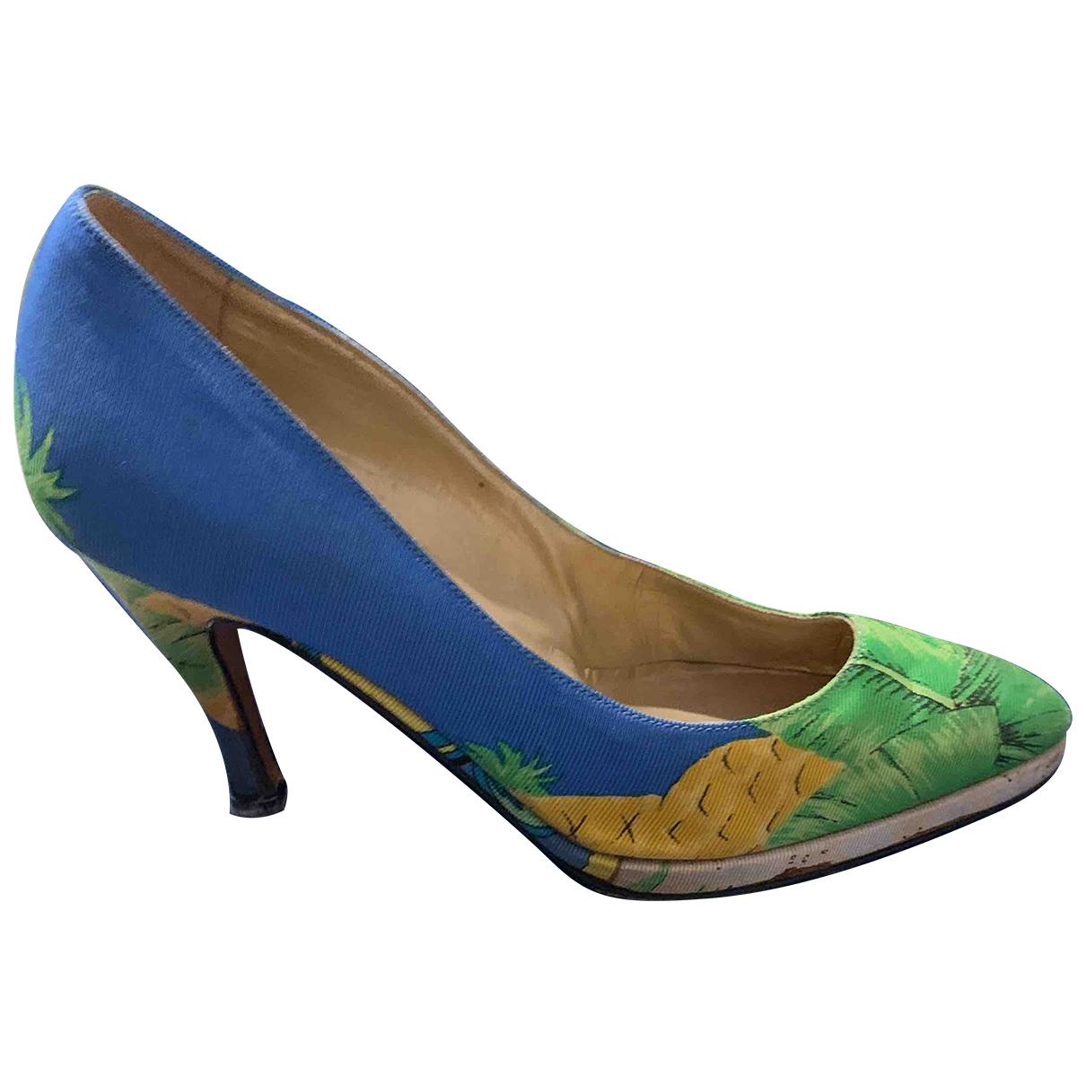 Versace \N Multicolour Cloth Heels for Women 36.5 EU