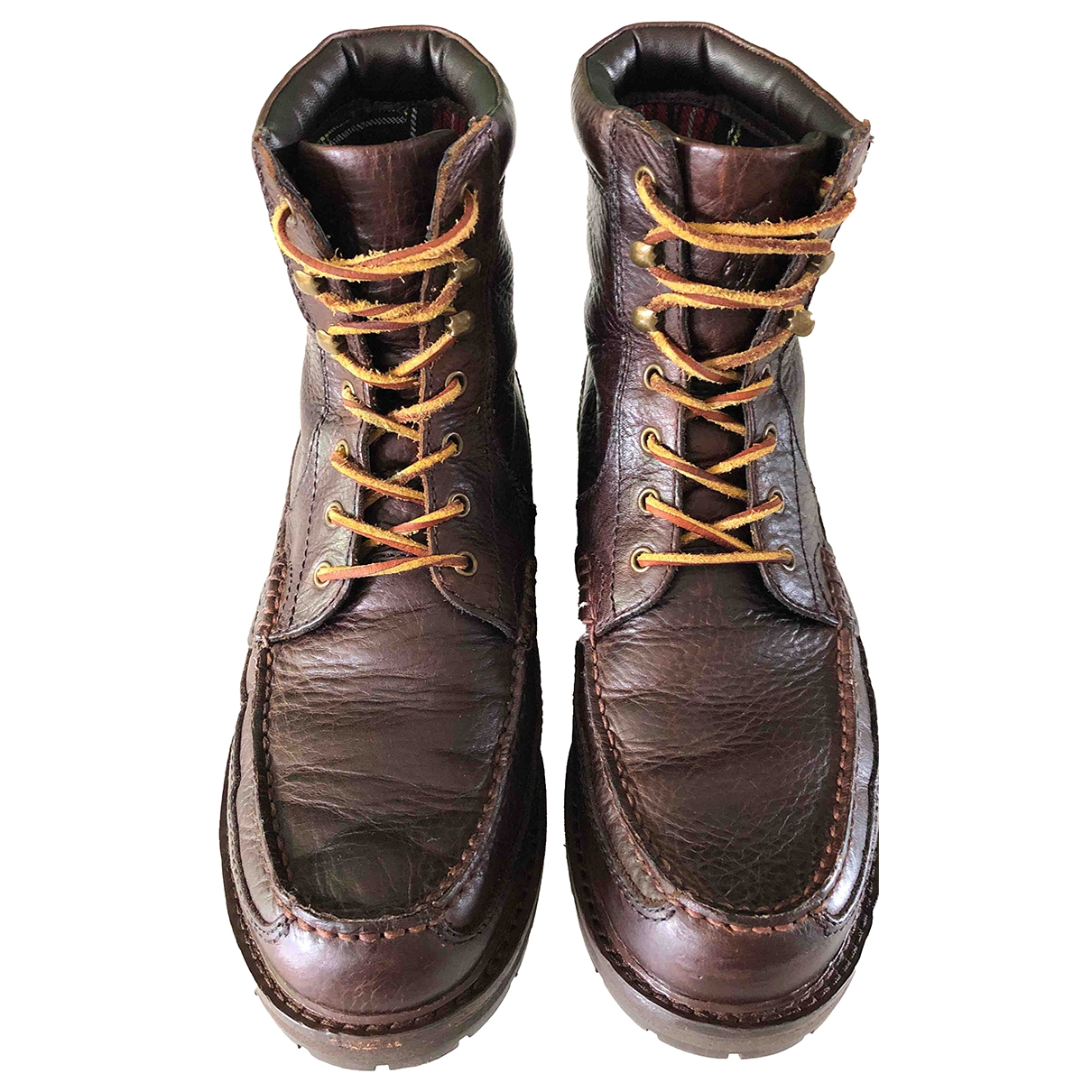 Polo Ralph Lauren \N Brown Leather Boots for Men 43 EU