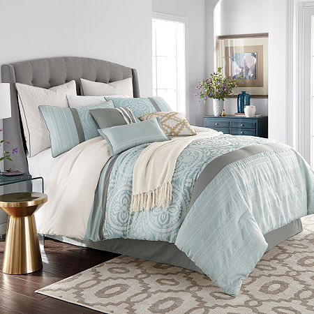JCPenney Home Mayer 10-pc. Jacquard Comforter Set, One Size , Multiple Colors