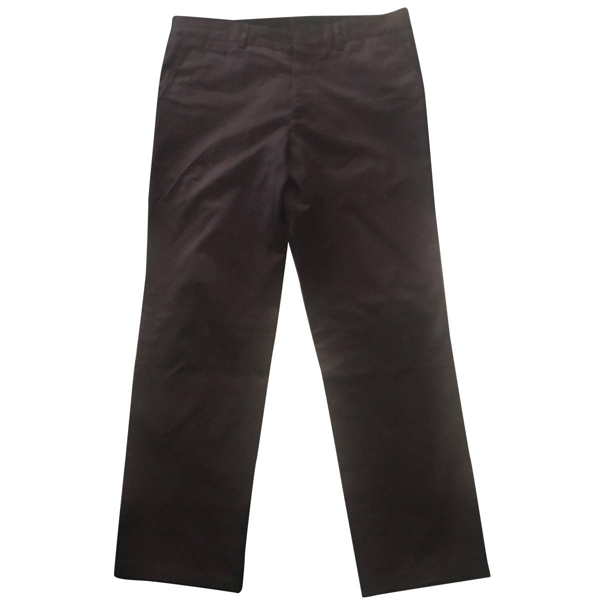 Lanvin \N Burgundy Cotton Trousers for Men 46 IT