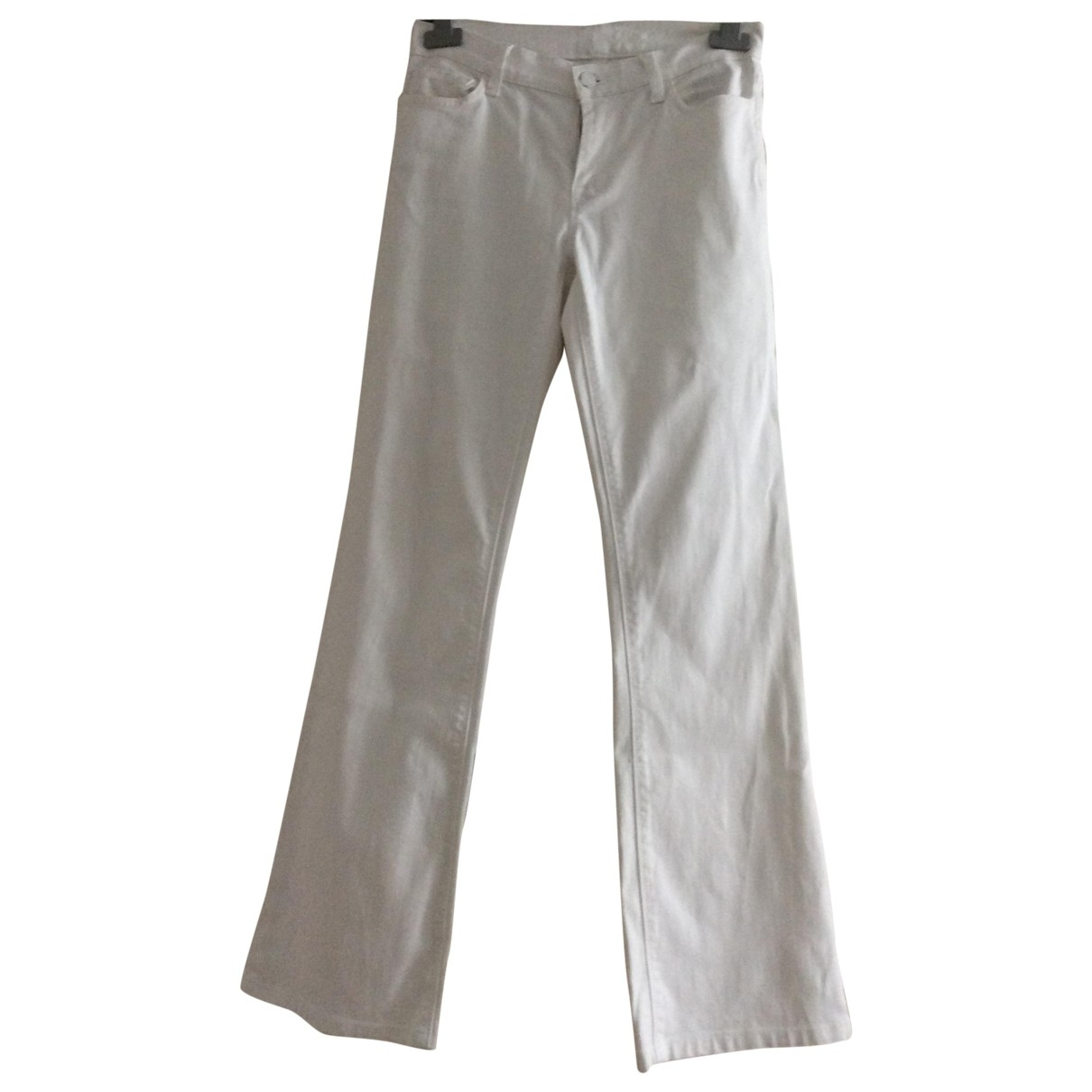 7 For All Mankind \N White Cotton Jeans for Women 27 US