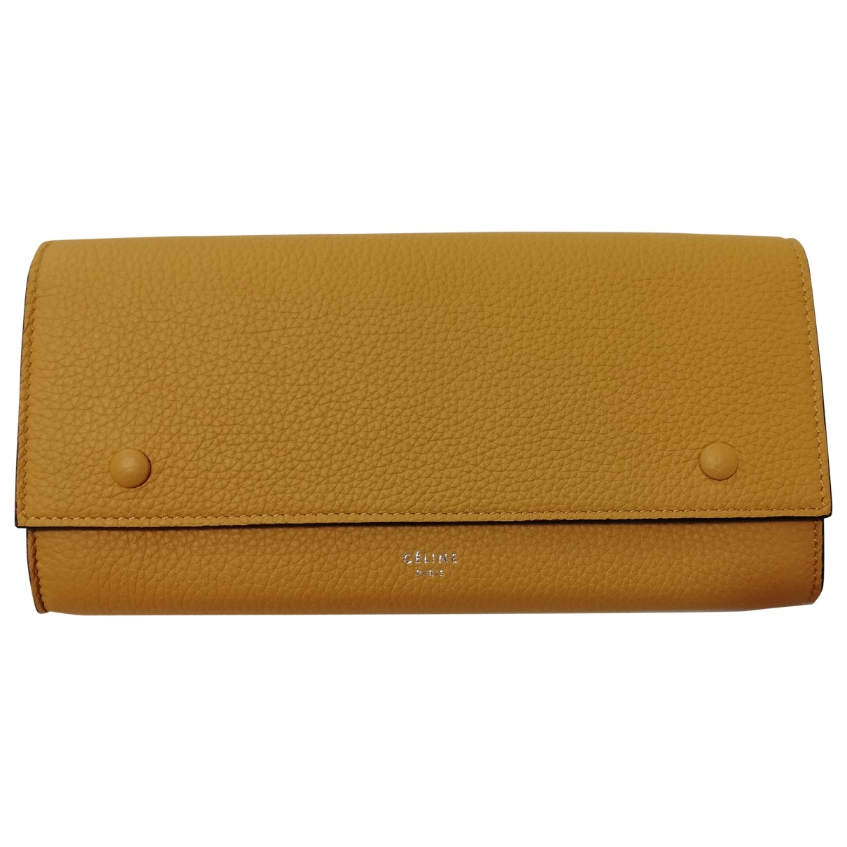 Celine \N Yellow Leather wallet for Women \N