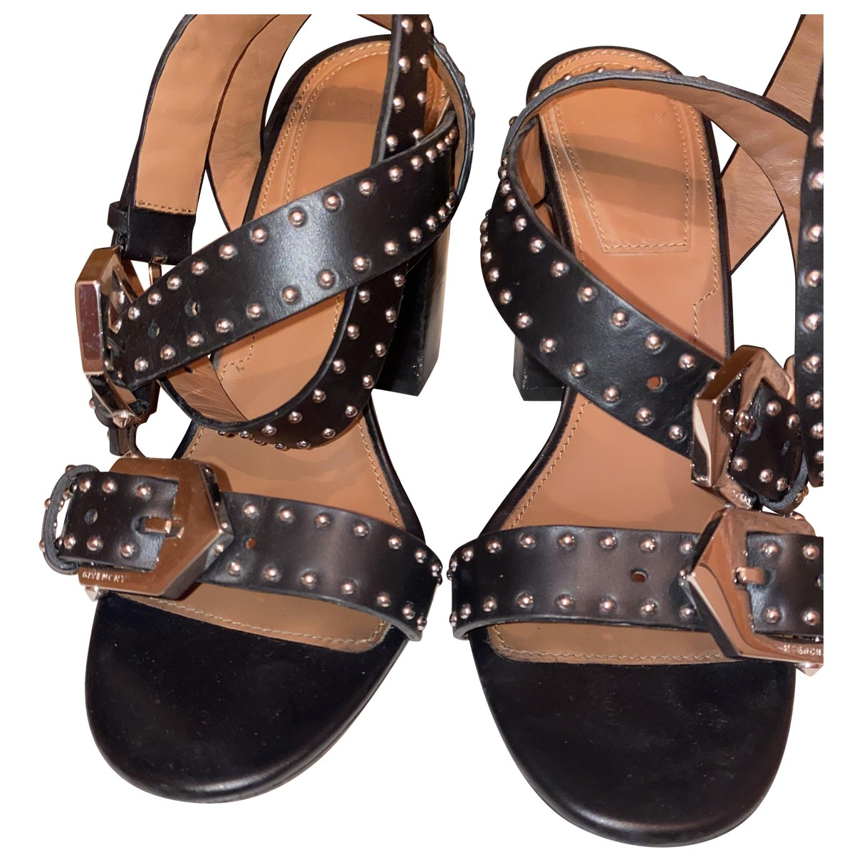 Givenchy \N Black Leather Sandals for Women 38 EU