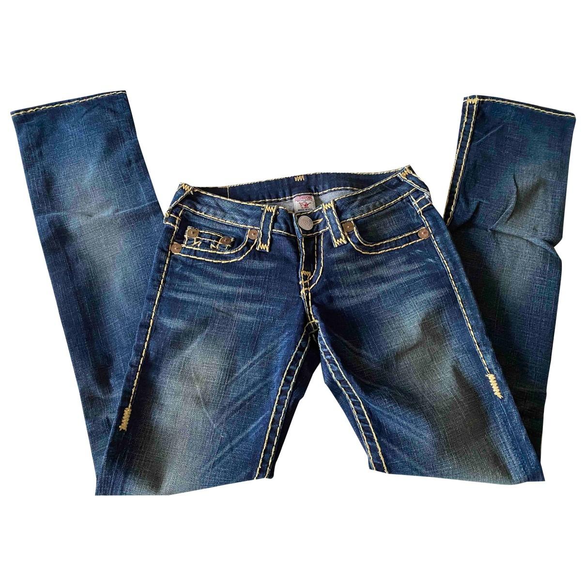 True Religion \N Blue Denim - Jeans Trousers for Women XS International