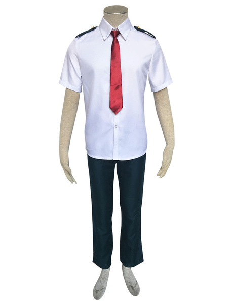 Milanoo Deku Cosplay Boku No Hero Academy Midoriya Izuku Anime BNHA Cosplay Costume Summer School Uniform