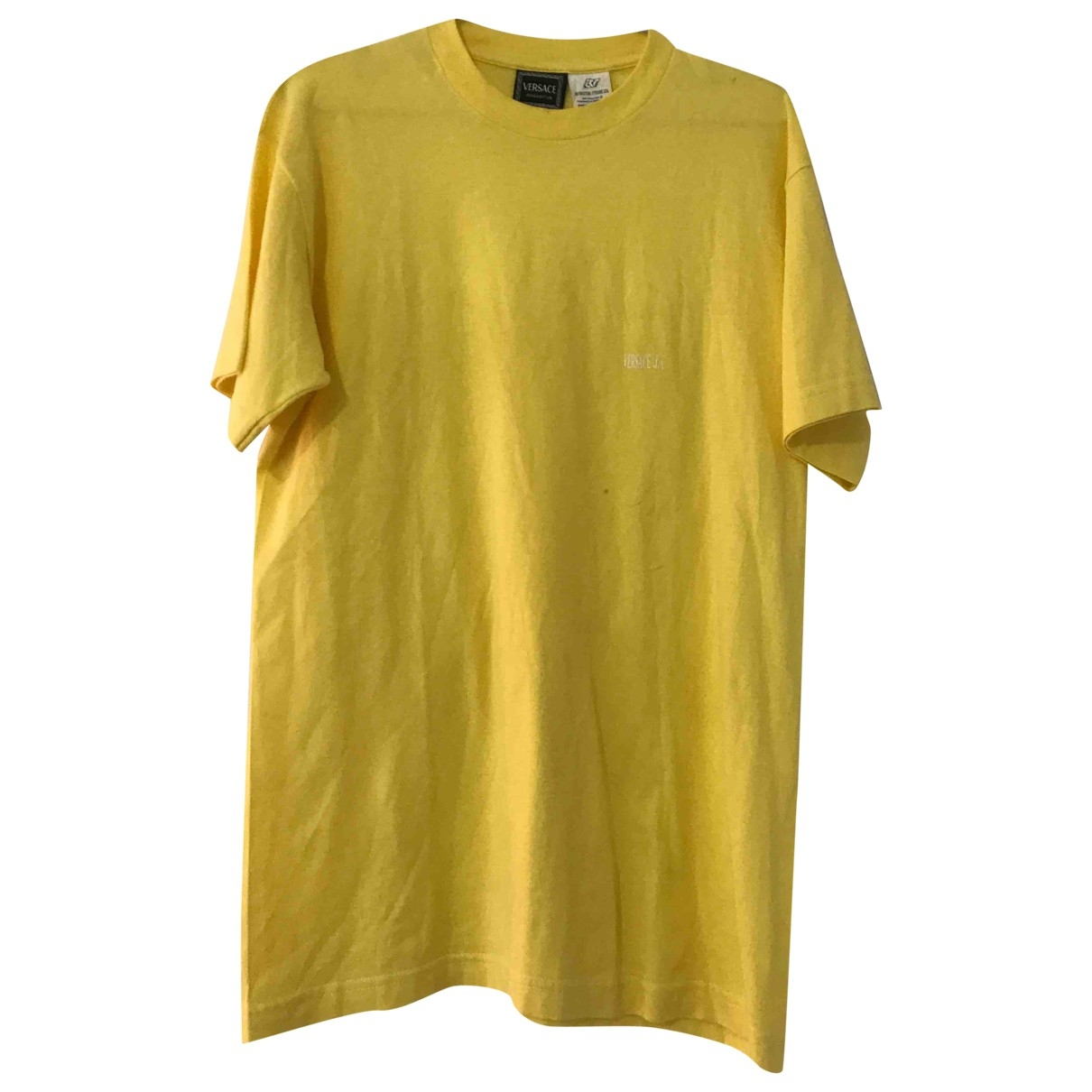Versace Jeans \N Yellow Cotton T-shirts for Men M International