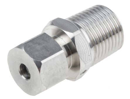 RS PRO Thermocouple Compression Fitting for use with Thermocouple With 6mm Probe Diameter, 1/2 NPT