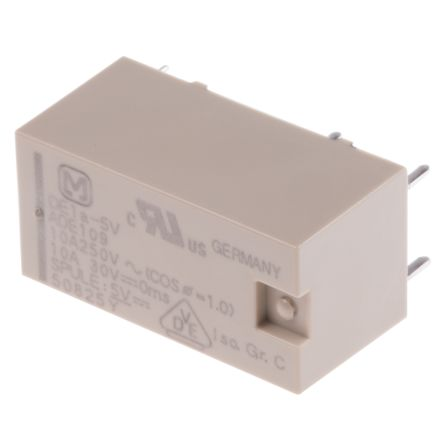Panasonic , 5V dc Coil Non-Latching Relay SPNO PCB Mount