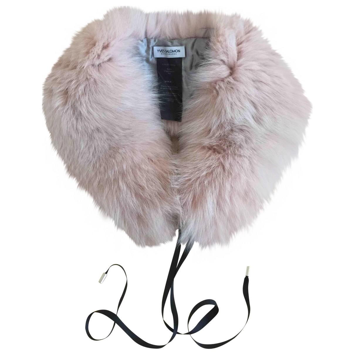 Yves Salomon \N Pink Fox Purses, wallet & cases for Women \N