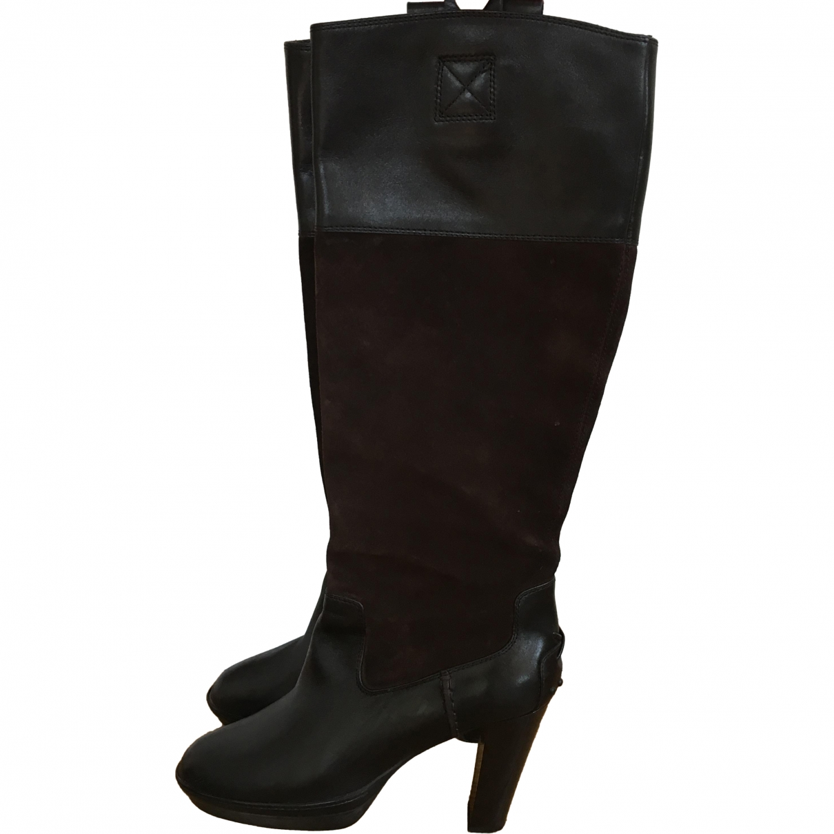 Tod's \N Brown Leather Boots for Women 38 EU