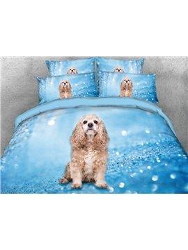 Vivilinen Cute Puppy Printed 4-Piece 3D Bedding Sets/Duvet Covers