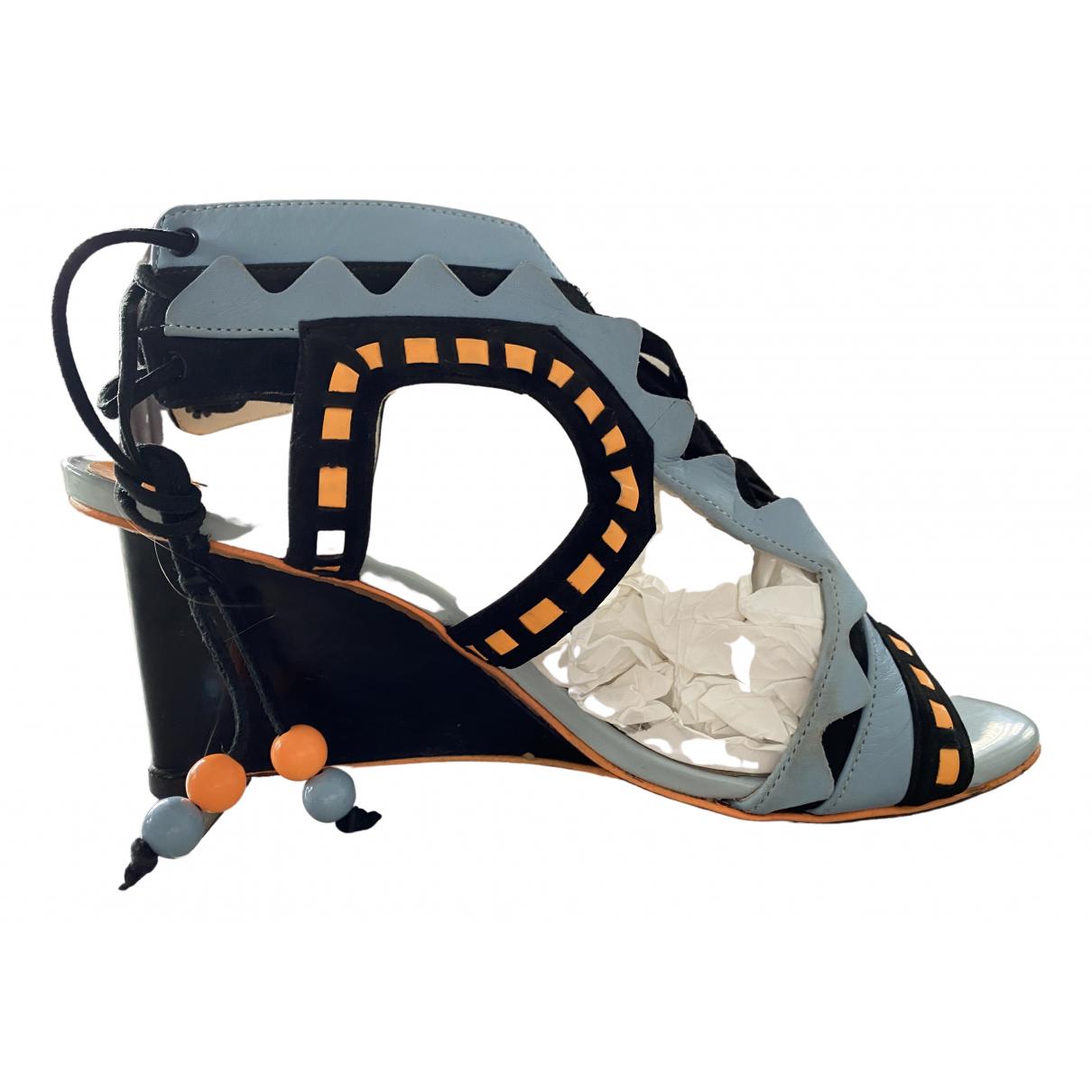 Sophia Webster \N Blue Leather Sandals for Women 38 EU