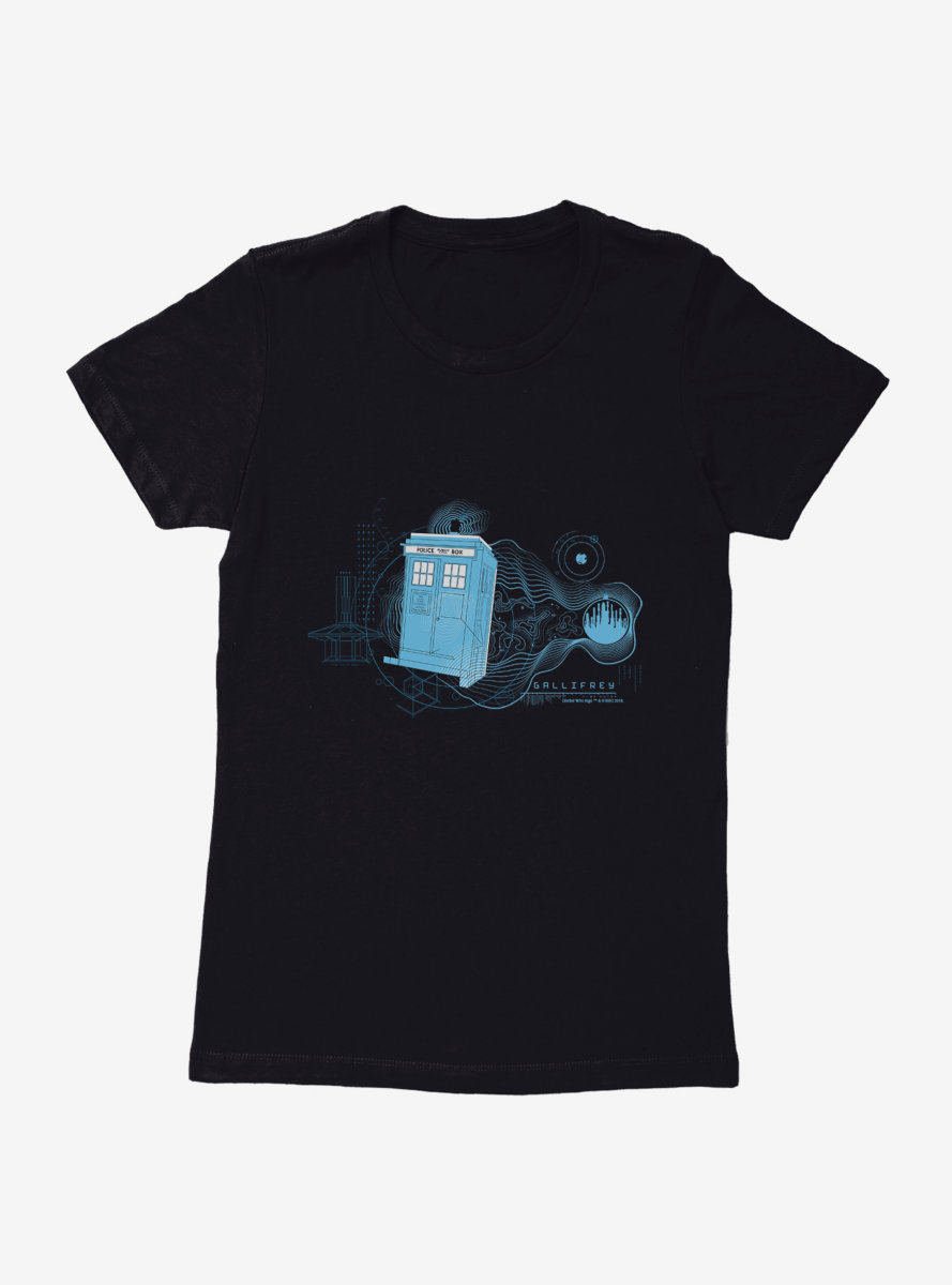 Doctor Who TARDIS Wibbly Wobbly Womens T-Shirt