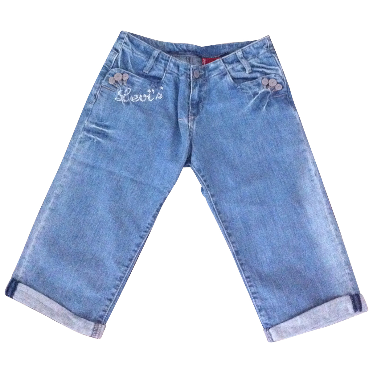 Levi's \N Blue Denim - Jeans Shorts for Kids 14 years - S FR